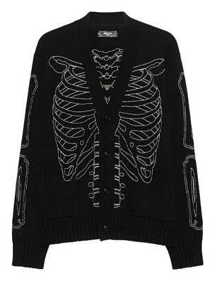Amiri Skeleton Intarsia Black