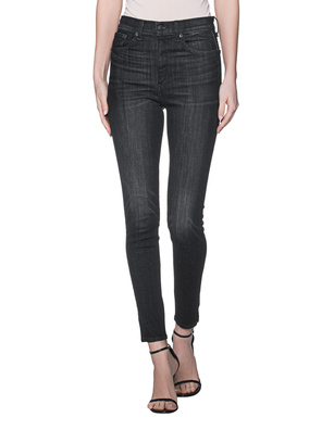 RAG&BONE High Rise Ankle Skinny Split Black