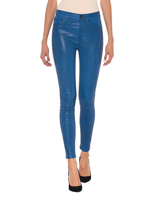 RAG&BONE Highrise Skinny Leather Blue