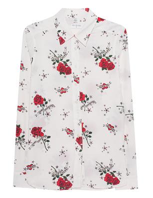 TRUE RELIGION Silk Roses Off-White