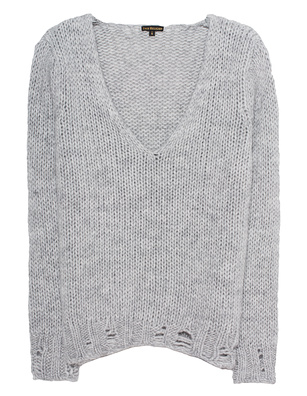 TRUE RELIGION Deep V Neck Grey