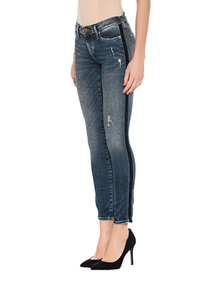 TRUE RELIGION Halle Denim Dirty Used Velvet Blue
