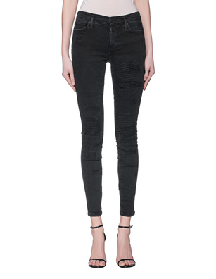 TRUE RELIGION Halle Damaged Black Denim