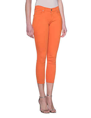 TRUE RELIGION Halle Crop Dyed Golden Poppy Orange