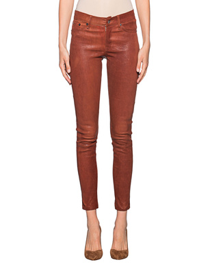 TRUE RELIGION Super Stretch Leather Pant Cognac