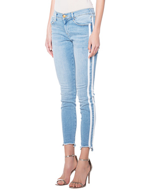 TRUE RELIGION Halle White Stripes Light Blue
