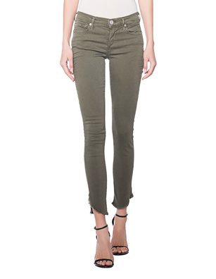 TRUE RELIGION Halle Dyed Long Olive