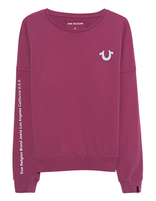 TRUE RELIGION Crew Reflect Malaga Fuchsia