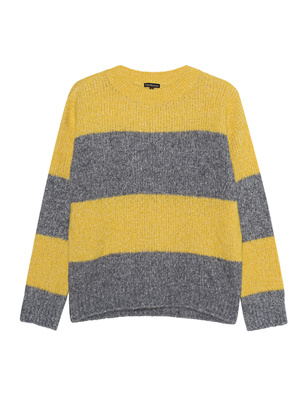 TRUE RELIGION Stripe Knit Grey Yellow