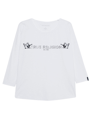 TRUE RELIGION Longsleeve White