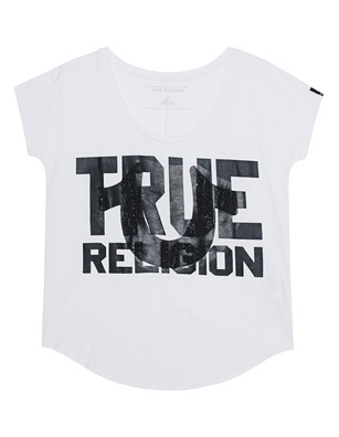 TRUE RELIGION Crew White