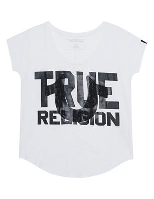 TRUE RELIGION Crew White