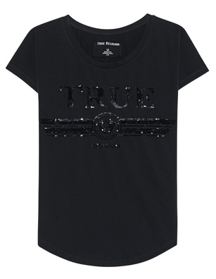 TRUE RELIGION Sequins Black