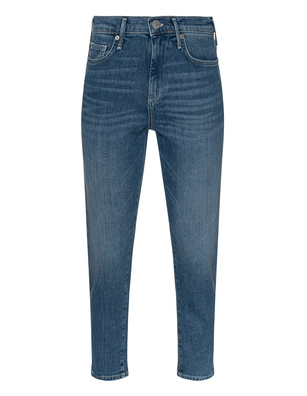 TRUE RELIGION Halle Mom Fit Cobalt Blue