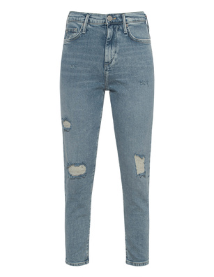 TRUE RELIGION Halle Mom Fit Blue
