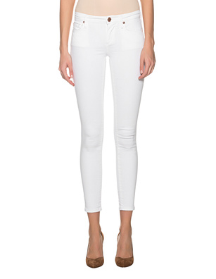 TRUE RELIGION Halle Mid Rise Super Skinny White
