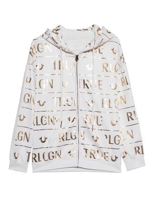 TRUE RELIGION Hoodie Gold Off-White