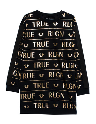 TRUE RELIGION Dress Print Black