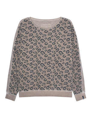 TRUE RELIGION Sweater Leo Print Beige