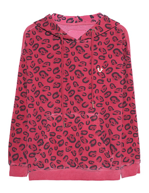 TRUE RELIGION Hoodie Oversize Leo Red