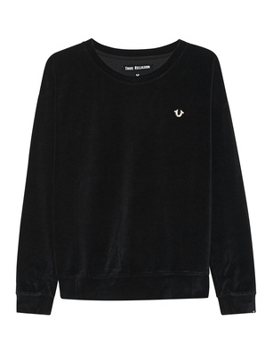 TRUE RELIGION Velvet Crewsweat Black