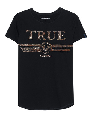 TRUE RELIGION Round Sequins Black