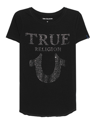 TRUE RELIGION Chrystal Horseshoe Black