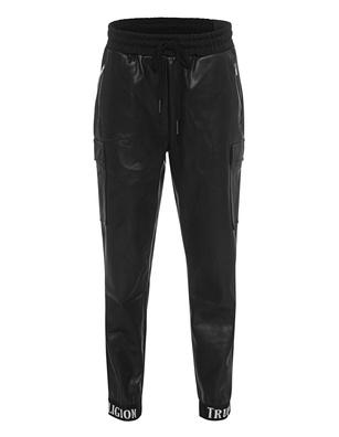 TRUE RELIGION Jogging Pant Leather Black