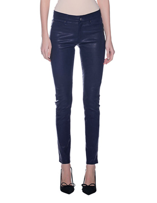 TRUE RELIGION Leather Pants Navy