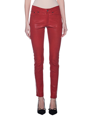 TRUE RELIGION Leather Pants Red