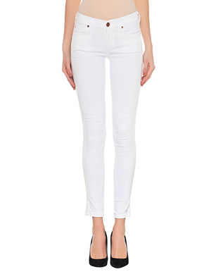TRUE RELIGION Halle Superstretch Stripes White