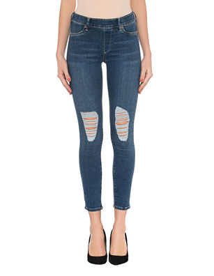 TRUE RELIGION Jegging Stretch Destroyed Blue