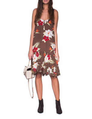 TRUE RELIGION Vintage Lily Floral Brown