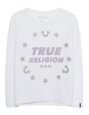 TRUE RELIGION Sweater Stars White