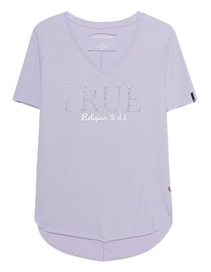 TRUE RELIGION V Neck Glam Lavender