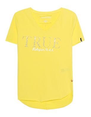 TRUE RELIGION V Neck Glam Yellow
