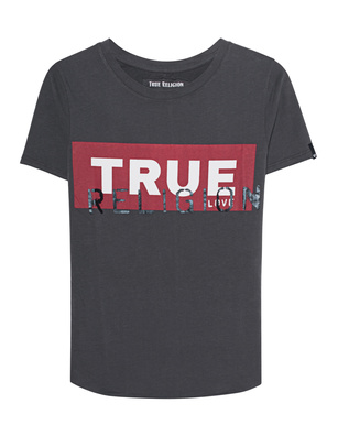 TRUE RELIGION Round Shirt Anthracite