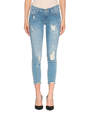 TRUE RELIGION Halle Mid Rise Super Skinny Blue