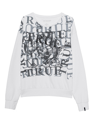 TRUE RELIGION Printed Logo White