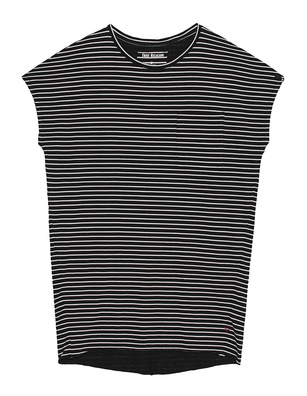 TRUE RELIGION Jersey Dress Stripe Black