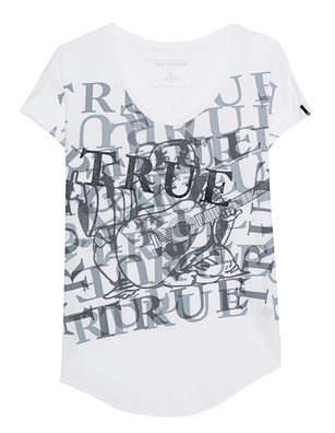 TRUE RELIGION Allover Print White