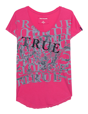 TRUE RELIGION Allover Print Pink