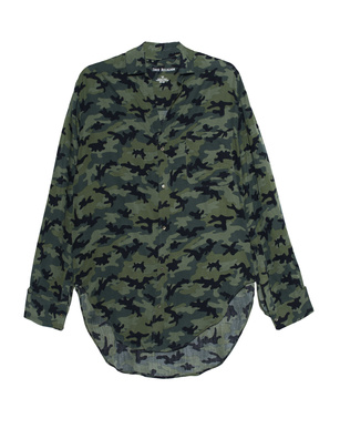 TRUE RELIGION Long Blouse Camouflage Olive