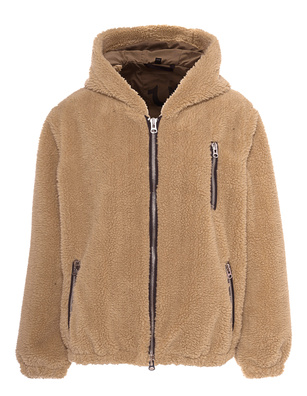 TRUE RELIGION Hood Bomber Teddy Camel