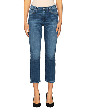 TRUE RELIGION Starr High Rise Cropped Straight Blue