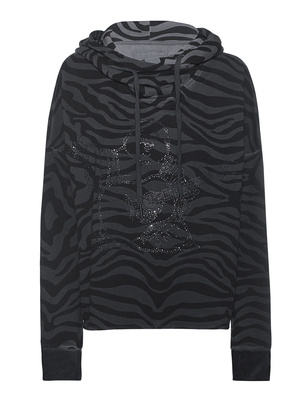 TRUE RELIGION Fleece Boxy Black Grey