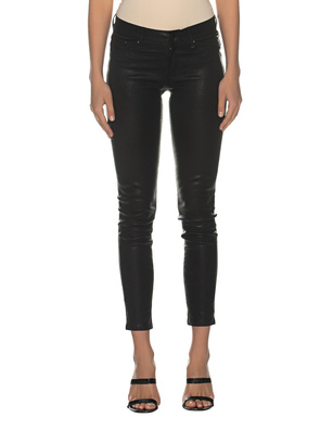 TRUE RELIGION Leather Skinny Black