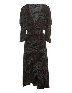 TRUE RELIGION Wrap Dress Camouflage