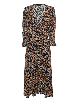 TRUE RELIGION Wrap Dress Leo Brown