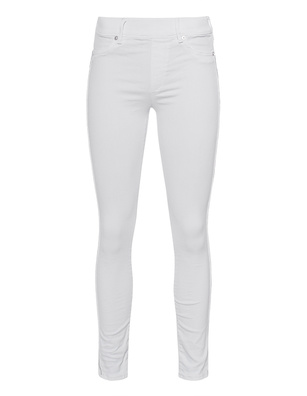 TRUE RELIGION Jegging Stripe Rhinestone White